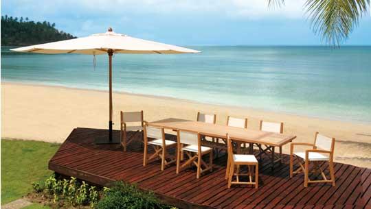 Mobilier de jardin en teck seloma amenagement mobilier for Jardin restaurant madison
