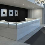 Banque d'accueil design NICE : nice to welcome you